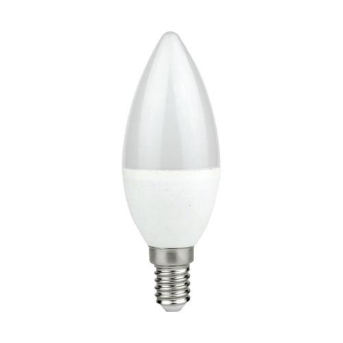 LED žárovka 7 W E14 C37 svíčka. Barva: Neutrální