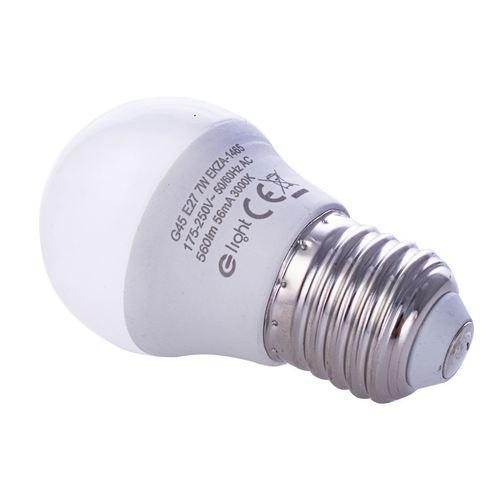 7 W žárovka E27 G45. Barva: Teplá