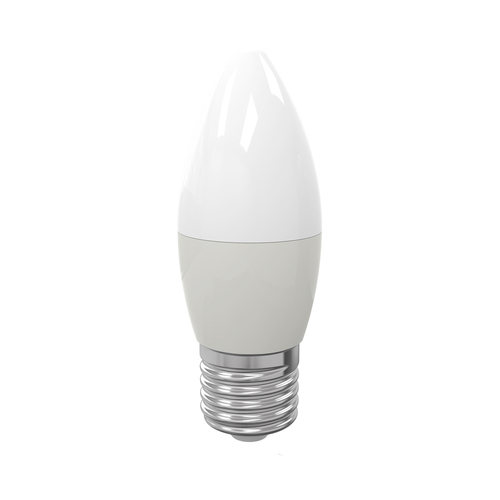 LED žárovka 7 W E27 C37. Barva: Teplá