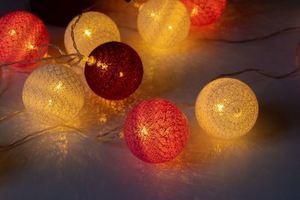 Vícebarevné LED bavlněné koule 20 ks. small 3