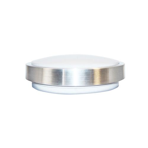 Šedá stropní lampa s čidlem pohybu 18 W 4000 K stříbrná Ip65 Pir IP65