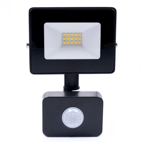 Černý LED světlomet 10 W. Barva: 4500 K. Pir IP65
