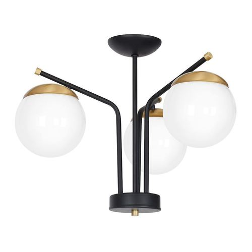 Černá stropní lampa Carina 3x E14