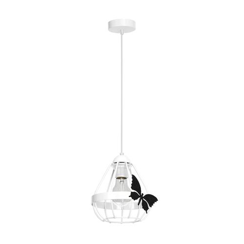Kago bílá 1x závěsná lampa E27