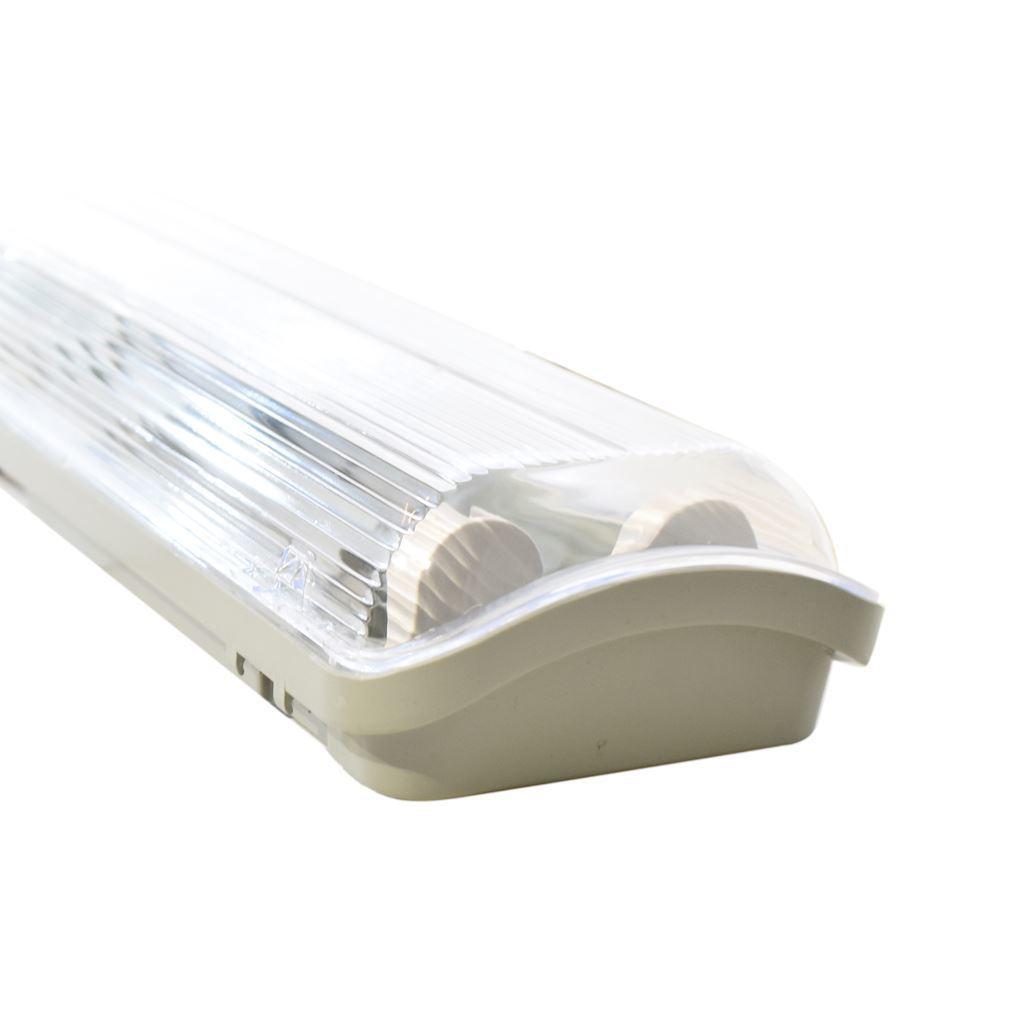 Šedé hermetické svítidlo 2x120cm + LED zářivka 18 W 120 Cm 4000 K IP65