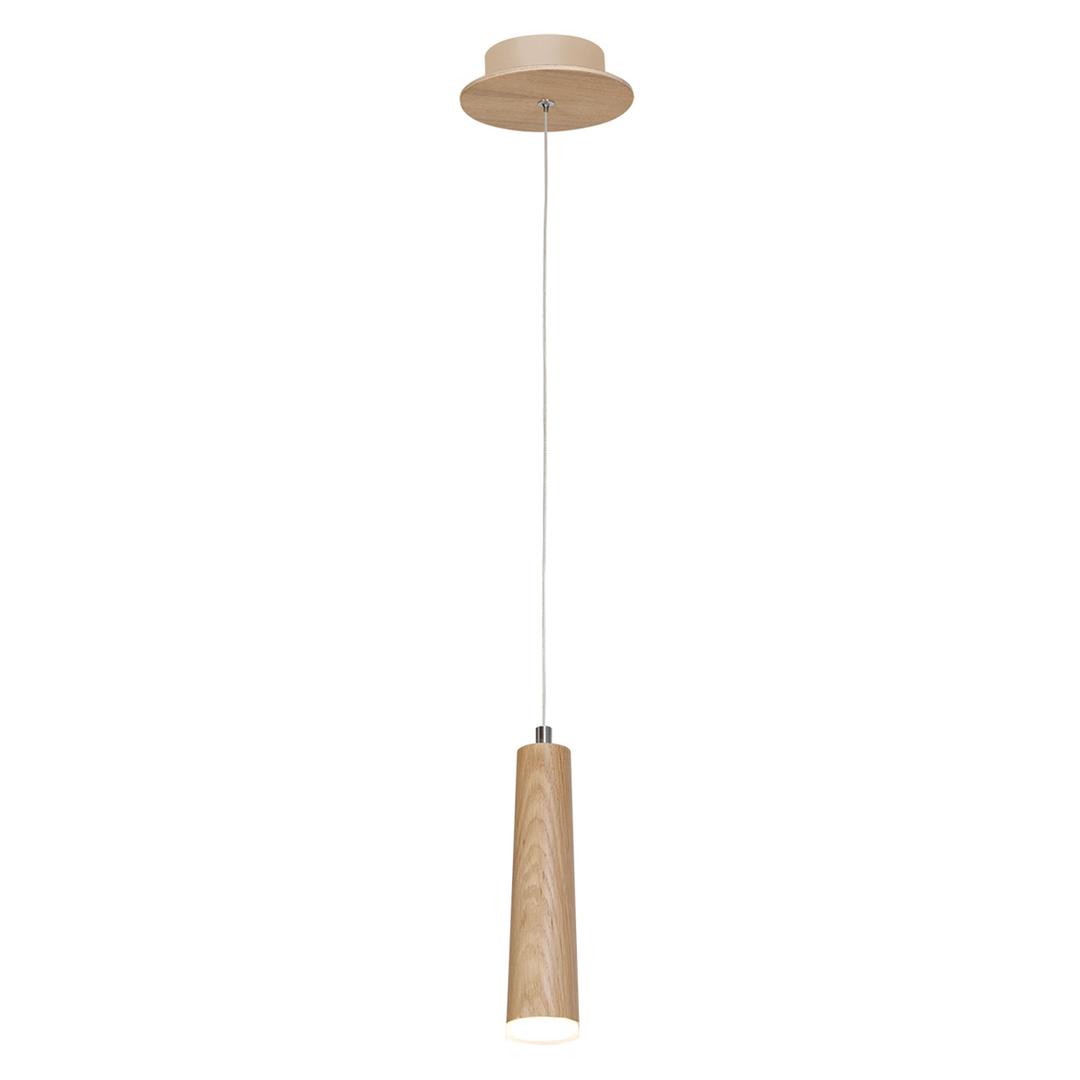 Dřevěná závěsná lampa 5W LED