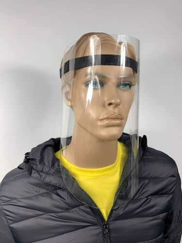 Ochranný štít na obličej s opletenou páskou