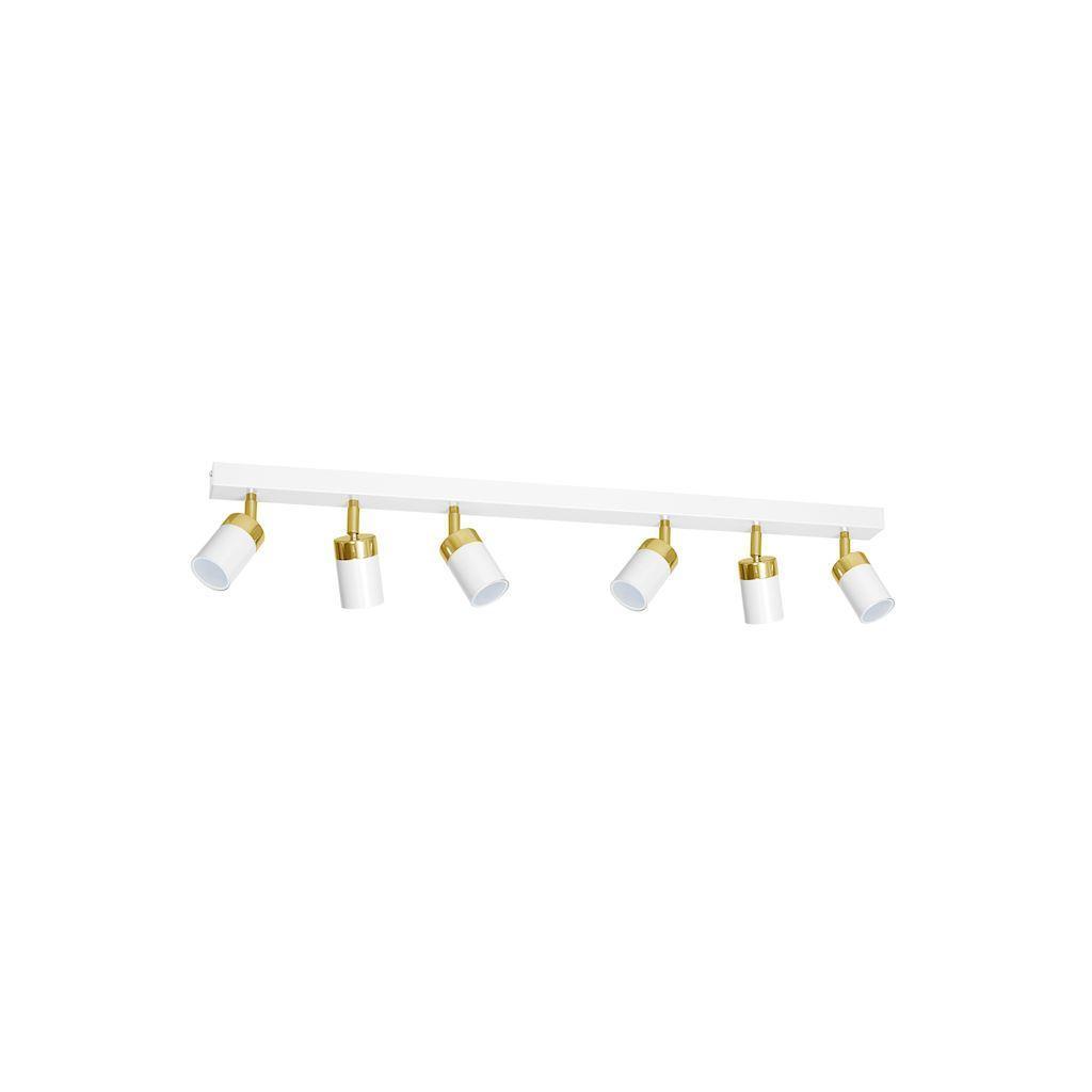 Bílá stropní lampa Joker bílá / zlatá 6x Gu10