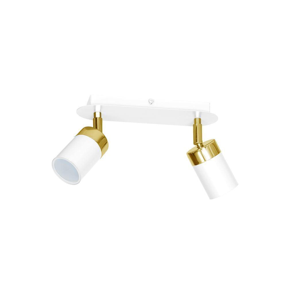 Joker White / Gold 2x Gu10 bílá stropní lampa
