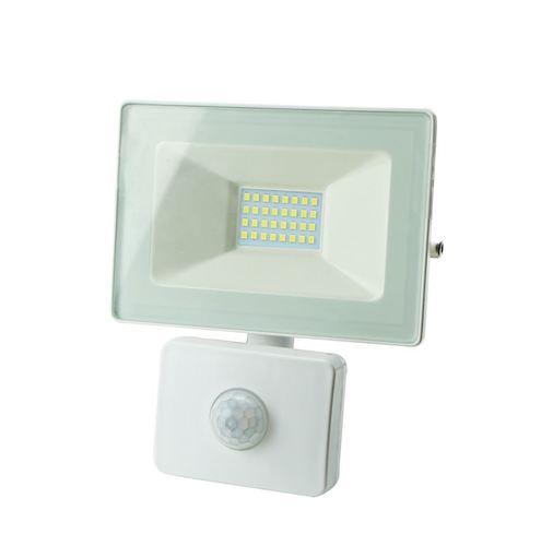Bílý LED reflektor 10 W Pir IP65