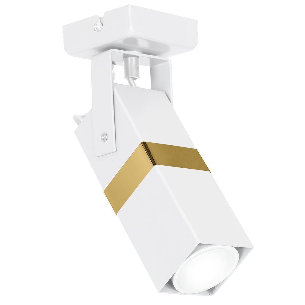 Bílé / zlaté nástěnné svítidlo Vidar 1x Gu10