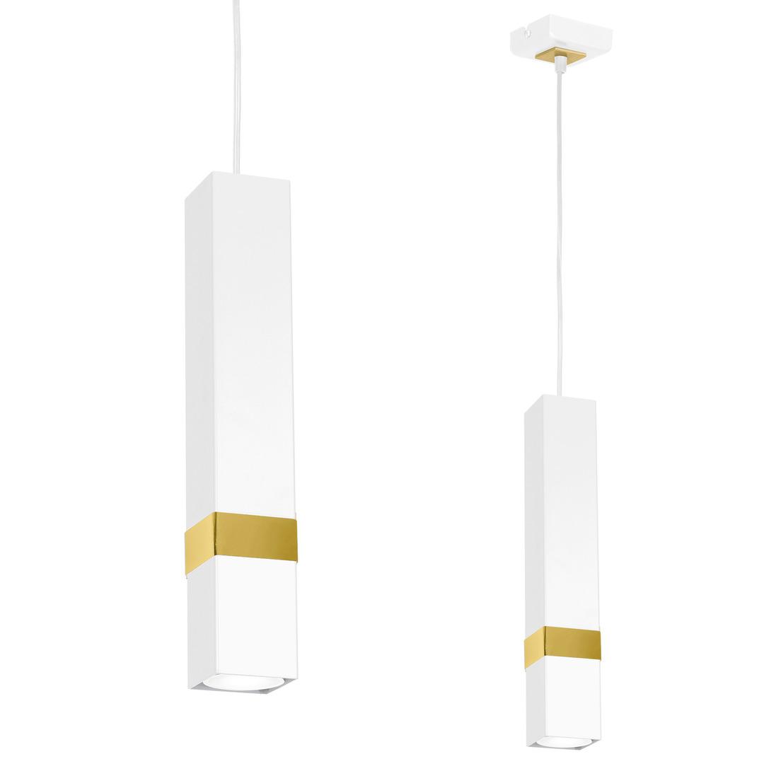Bílá Vidar bílá / zlatá 1x závěsná lampa Gu10