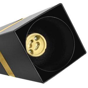 Černá stropní lampa Vidar černá / zlatá 3x Gu10 small 2