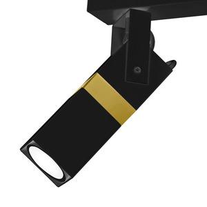 Černá stropní lampa Vidar černá / zlatá 3x Gu10 small 4