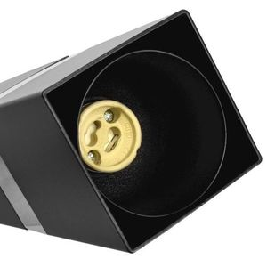 Černá nástěnná lampa Vidar Black / Chrome 1x Gu10 small 2