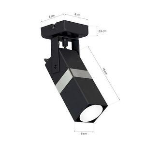 Černá nástěnná lampa Vidar Black / Chrome 1x Gu10 small 5