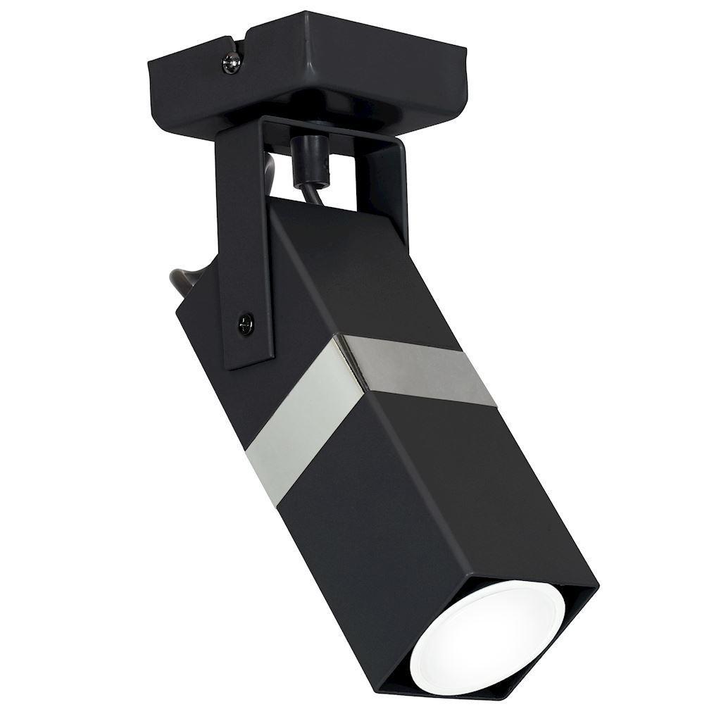 Černá nástěnná lampa Vidar Black / Chrome 1x Gu10