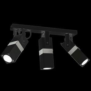 Černá stropní lampa Vidar Black / Chrome 3x Gu10 small 6