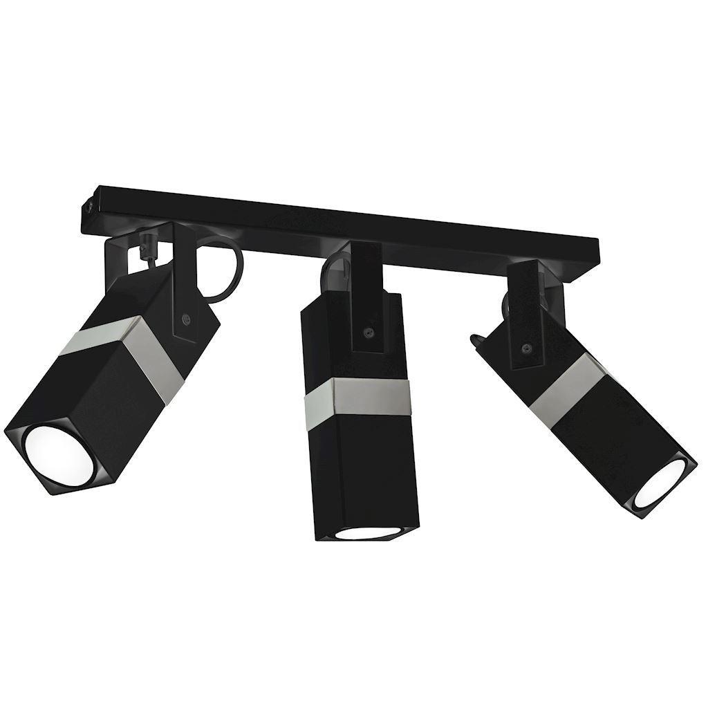 Černá stropní lampa Vidar Black / Chrome 3x Gu10