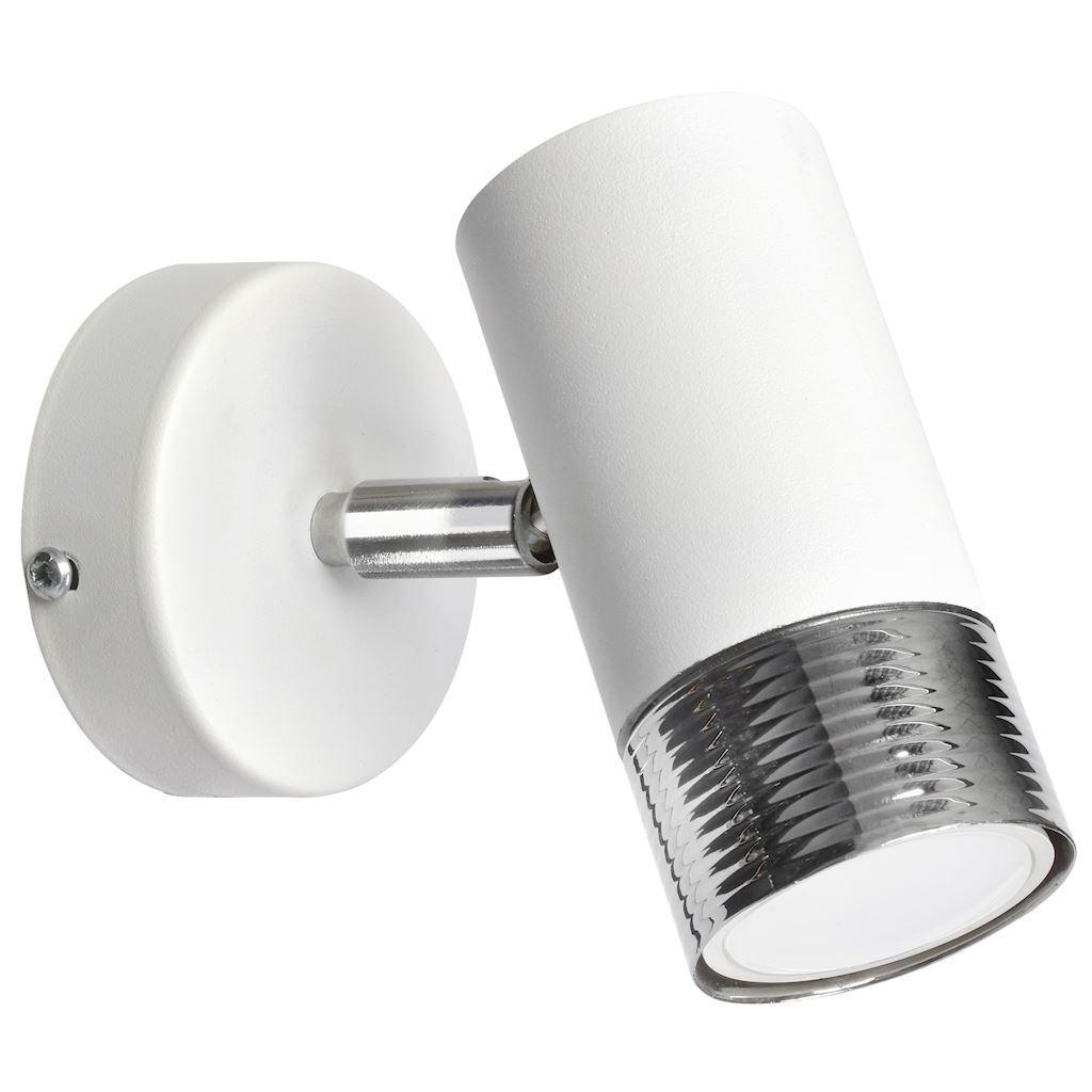 Bílé nástěnné svítidlo Dani White / Chrome 1x Gu10