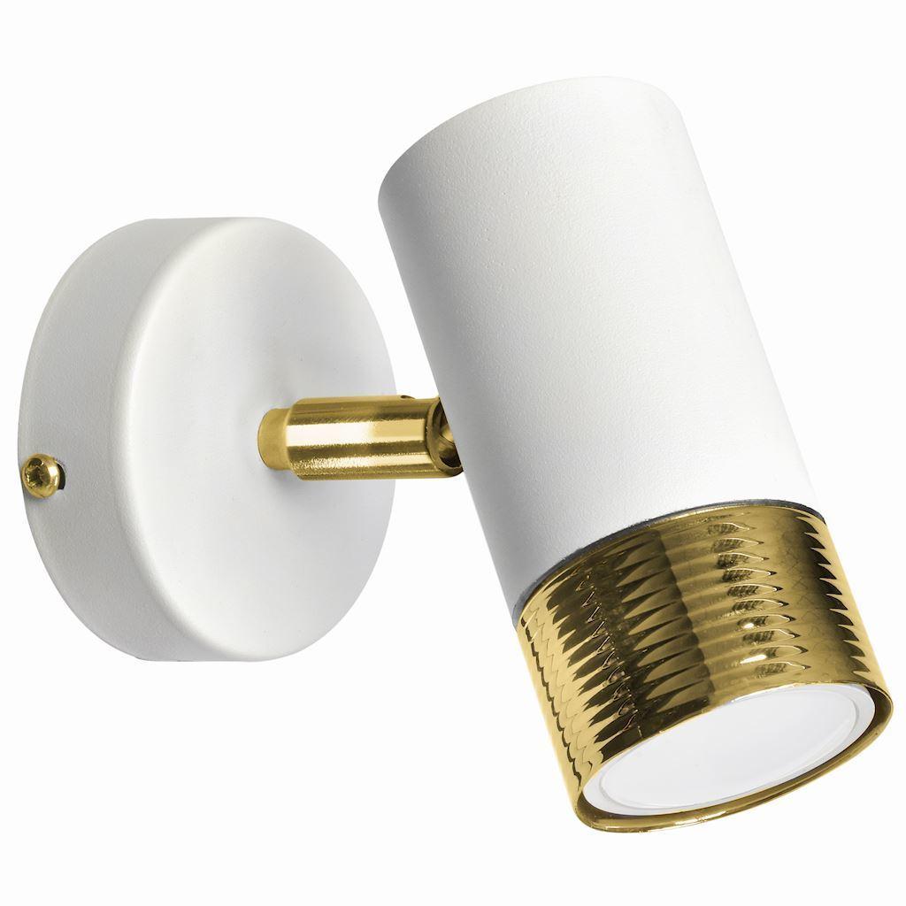 Dani bílá / zlatá 1x nástěnná lampa Gu10