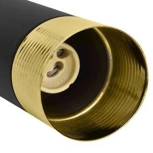 Černá stropní lampa Dani černá / zlatá 3x Gu10 small 2