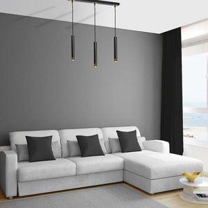 Černá závěsná lampa Dani černá / zlatá 3x Gu10 small 5