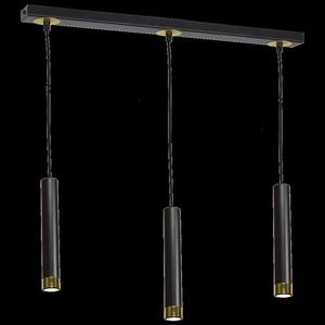 Černá závěsná lampa Dani černá / zlatá 3x Gu10 small 7