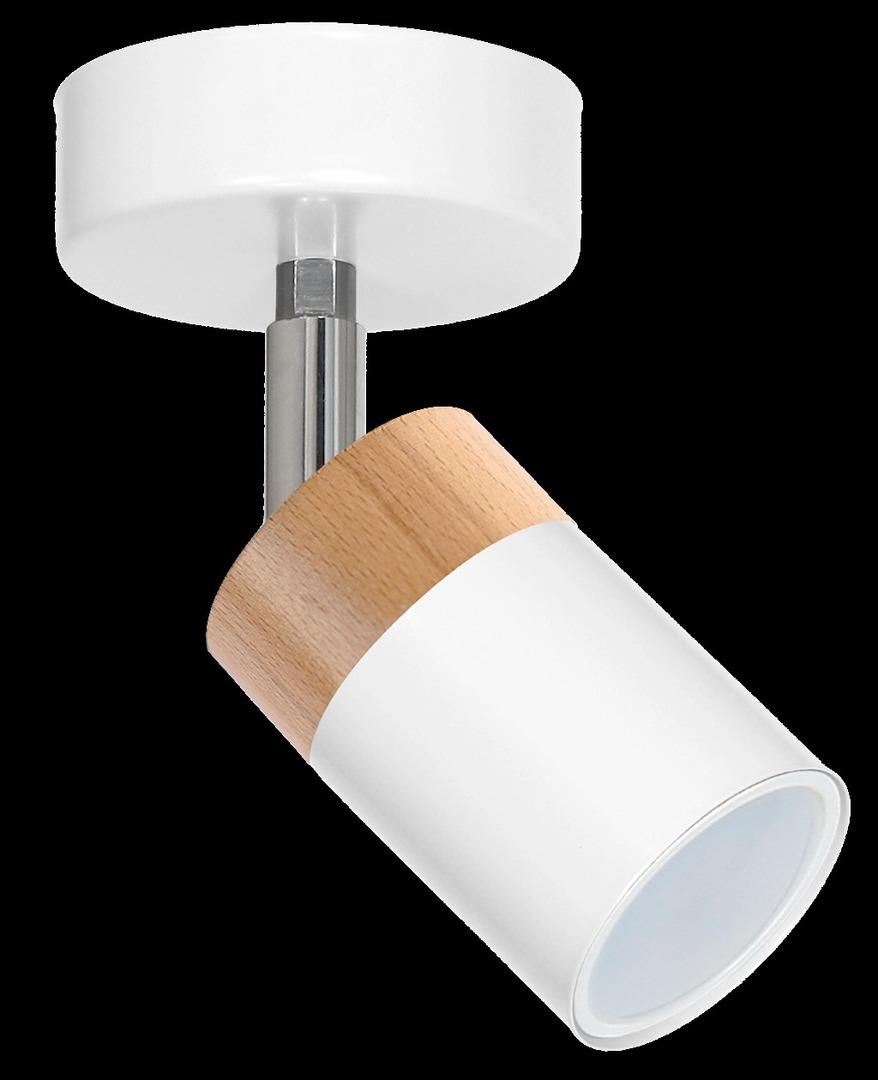Bílá nástěnná lampa Joker bílá / dřevo 1x Gu10