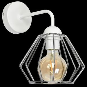 Bílá Norman White 1x nástěnná lampa E27 small 7