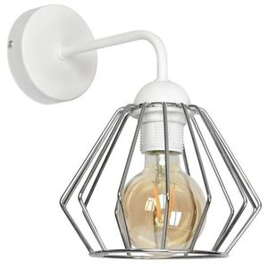 Bílá Norman White 1x nástěnná lampa E27 small 0