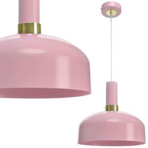 Růžová závěsná lampa Malmo Pink 1x E27 small 0