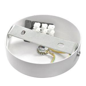 Bílá nástěnná lampa Lupo bílá / zlatá 1x E27 small 2