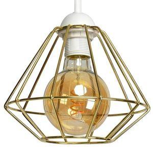Bílá nástěnná lampa Lupo bílá / zlatá 1x E27 small 3