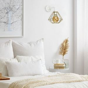 Bílá nástěnná lampa Lupo bílá / zlatá 1x E27 small 5