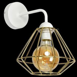 Bílá nástěnná lampa Lupo bílá / zlatá 1x E27 small 7