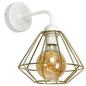 Bílá nástěnná lampa Lupo bílá / zlatá 1x E27 small 0