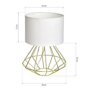 Bílá stojící lampa Lupo Wite / zlatá 1x E27 small 6