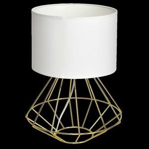 Bílá stojící lampa Lupo Wite / zlatá 1x E27 small 7
