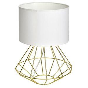 Bílá stojící lampa Lupo Wite / zlatá 1x E27 small 0