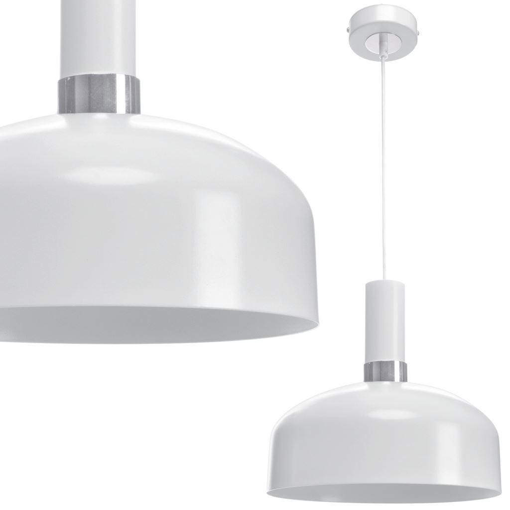 Bílá Malmo bílá / chrom 1x závěsná lampa E27