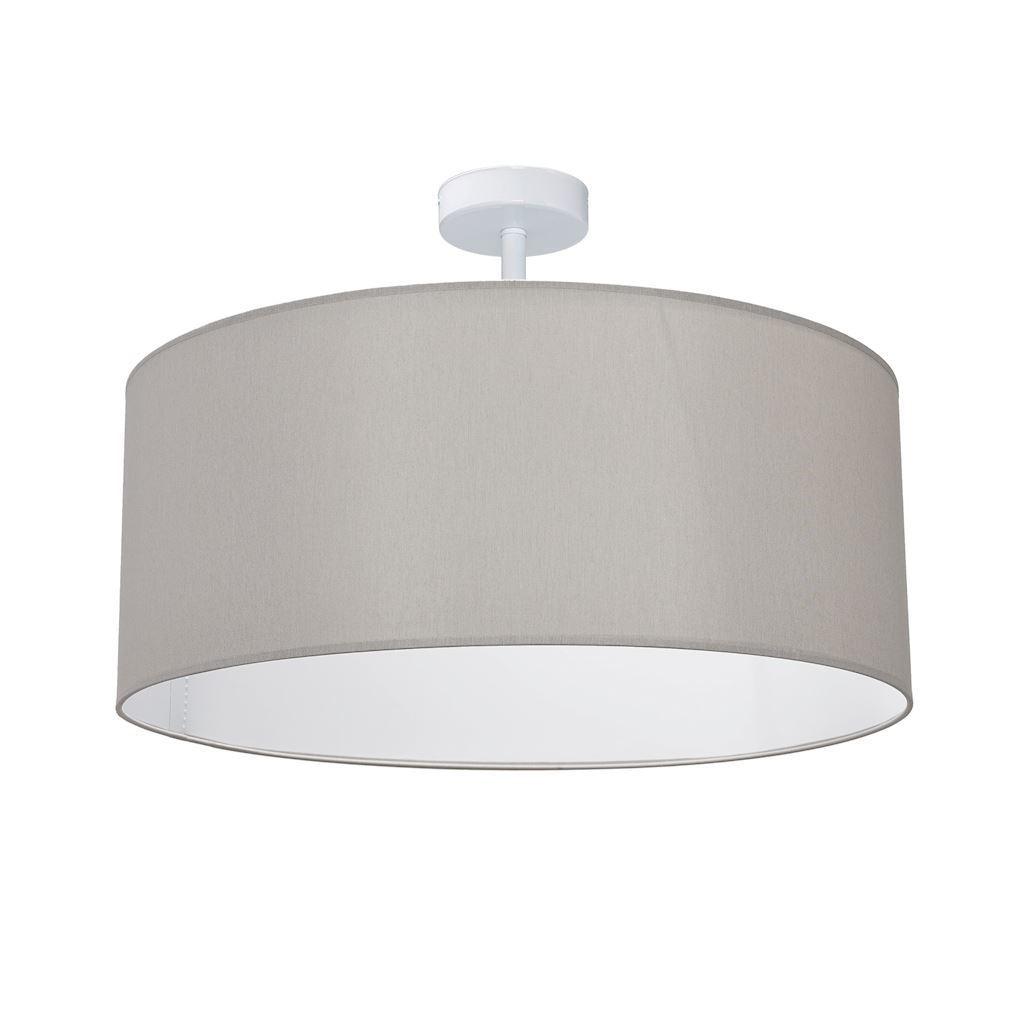 Šedá stropní lampa Ben šedá / bílá 3x E27