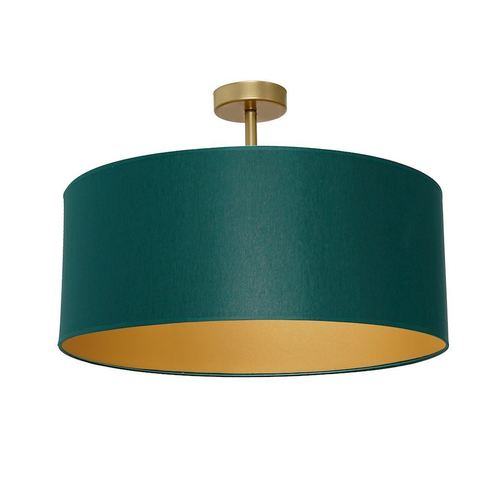 Zelená stropní lampa Ben zelená / zlatá 3x E27