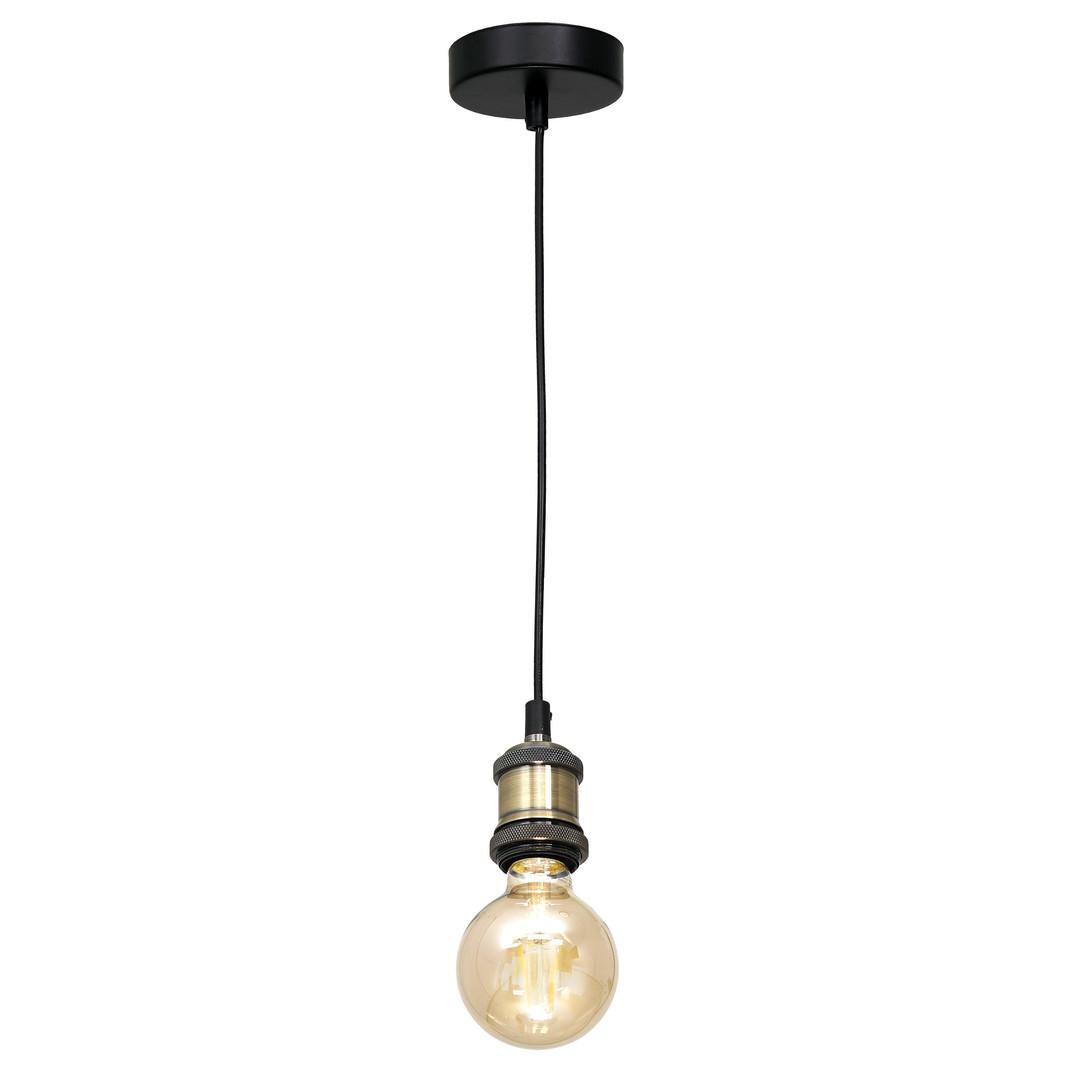 Černá závěsná lampa Edison černá / mosaz 1x E27