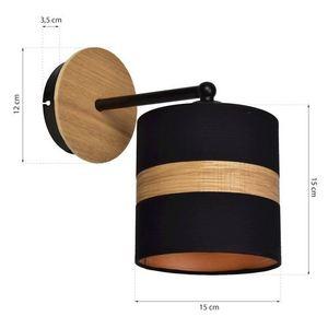 Černá nástěnná lampa Terra 1x E27 small 4