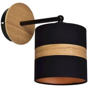 Černá nástěnná lampa Terra 1x E27 small 0