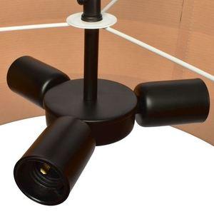 Černá stropní lampa Terra 3x E27 small 2