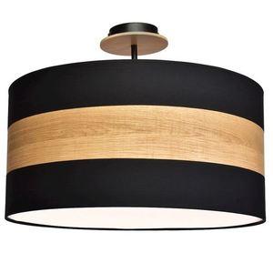 Černá stropní lampa Terra 3x E27 small 0