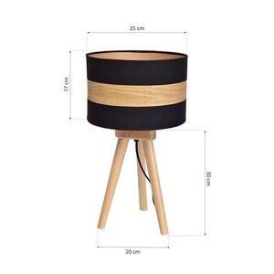 Černá stolní lampa Terra 1x E27 small 6