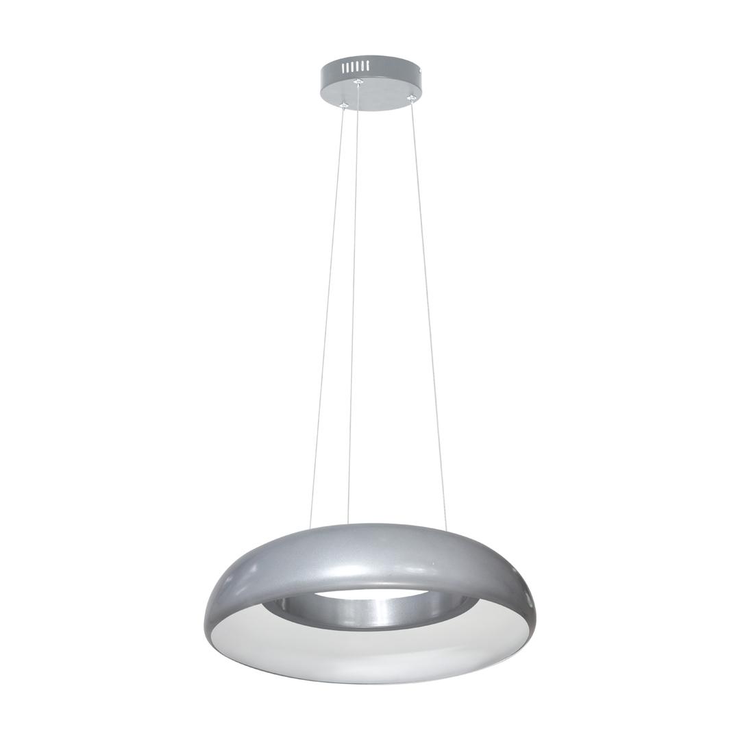 Šedá závěsná lampa Rondo šedá 36 W vedená